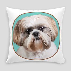 Shih Tzu Portrait Everyday Pillow