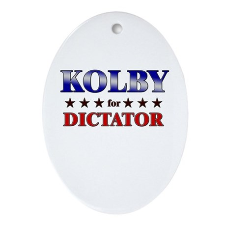 KOLBY for dictator Oval Ornament
