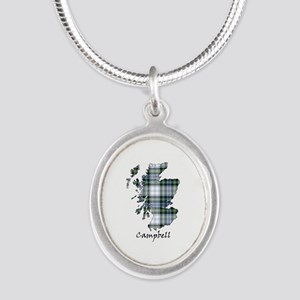 Map-Campbell dress Silver Oval Necklace