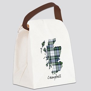 Map-Campbell dress Canvas Lunch Bag