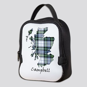 Map-Campbell dress Neoprene Lunch Bag