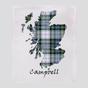 Map-Campbell dress Throw Blanket