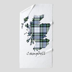 Map-Campbell dress Beach Towel
