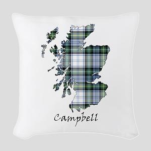 Map-Campbell dress Woven Throw Pillow
