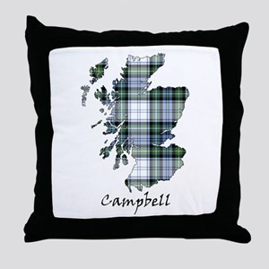 Map-Campbell dress Throw Pillow