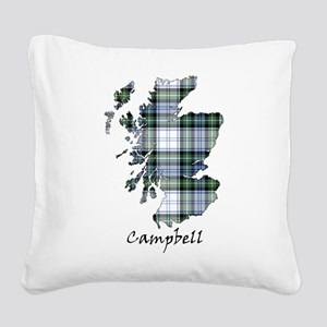 Map-Campbell dress Square Canvas Pillow