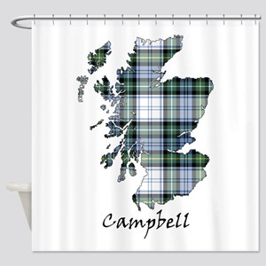 Map-Campbell dress Shower Curtain