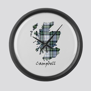 Map-Campbell dress Large Wall Clock