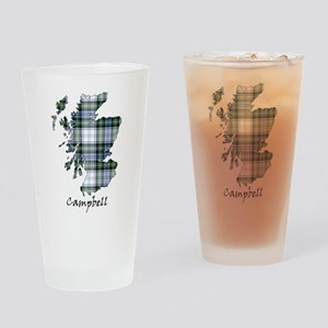 Map-Campbell dress Drinking Glass