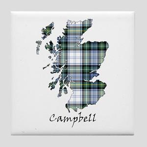 Map-Campbell dress Tile Coaster