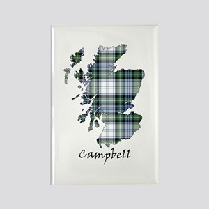 Map-Campbell dress Rectangle Magnet