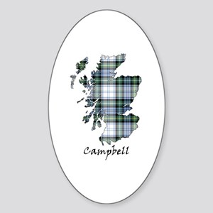 Map-Campbell dress Sticker (Oval)