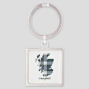 Map-Campbell dress Square Keychain