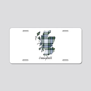 Map-Campbell dress Aluminum License Plate