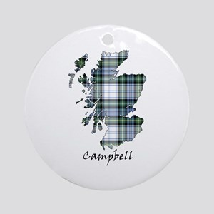 Map-Campbell dress Round Ornament