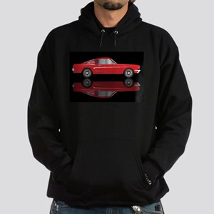 Very Fast Red Car Hoodie (dark)