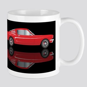 Very Fast Red Car Mugs