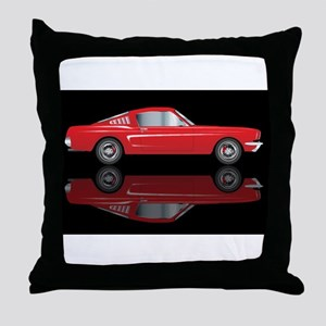Very Fast Red Car Throw Pillow