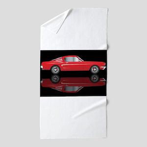 Very Fast Red Car Beach Towel