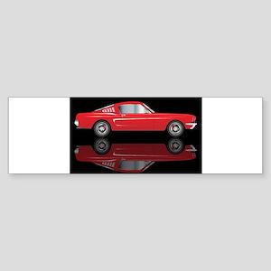 Very Fast Red Car Bumper Sticker