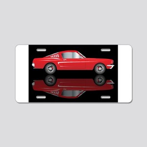 Very Fast Red Car Aluminum License Plate