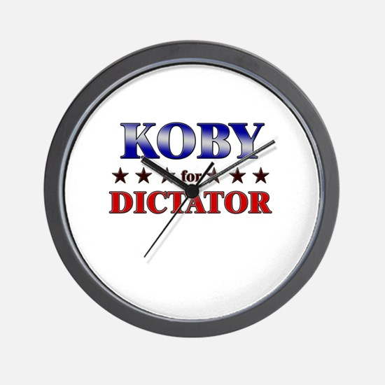 KOBY for dictator Wall Clock