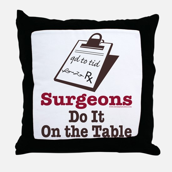 Funny Doctor Surgeon Throw Pillow
