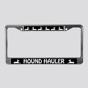 Hound Hauler License Plate Frame
