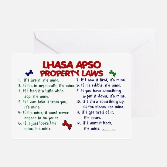 Lhasa Apso Property Laws 2 Greeting Card