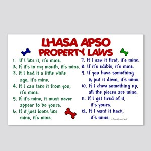 Lhasa Apso Property Laws 2 Postcards (Package of 8