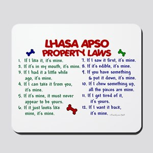 Lhasa Apso Property Laws 2 Mousepad