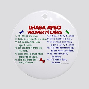 Lhasa Apso Property Laws 2 Ornament (Round)