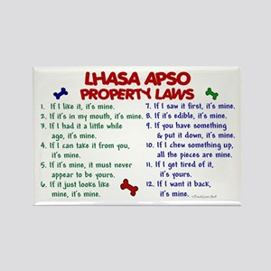 Lhasa Apso Property Laws 2 Rectangle Magnet