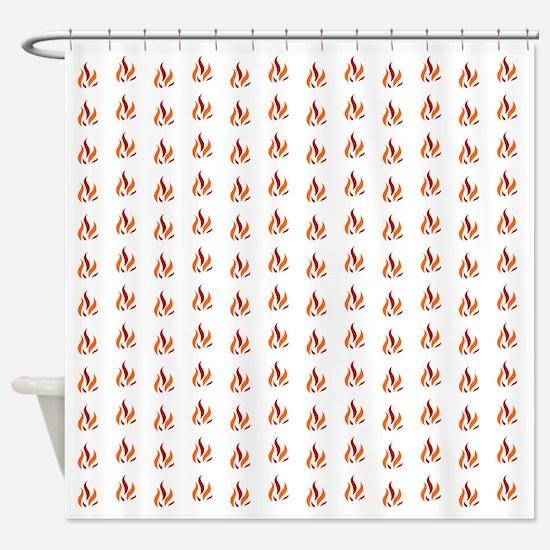 Funny Fire alarm Shower Curtain
