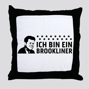 Ich Bin Ein Brookliner Throw Pillow