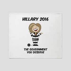 Anti-Hillary Throw Blanket