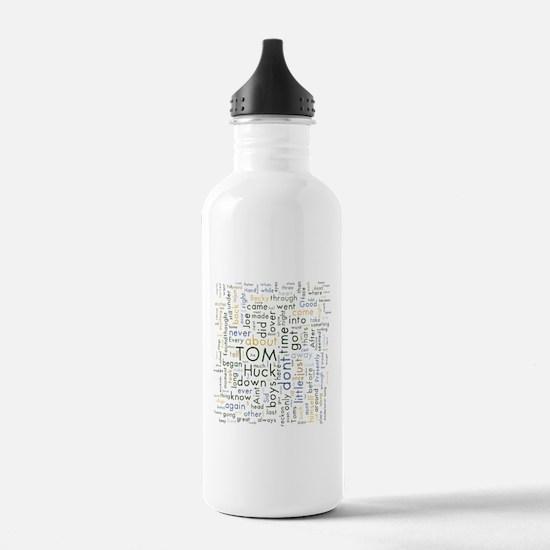 Tom Sawyer Word Cloud Water Bottle