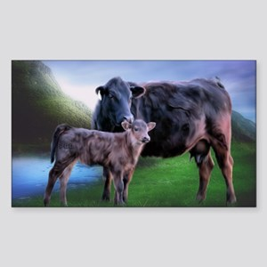 Black Angus Cow and Calf Sticker