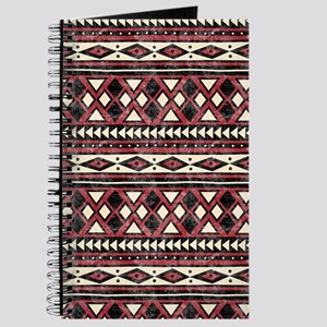 Black Red African Pattern Journal