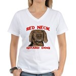 Red Neck Guard Dog Women's V-Neck T-Shirt