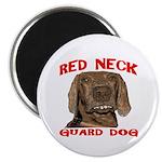 Red Neck Guard Dog Magnet