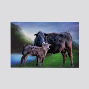 Black Angus Cow and Calf Magnets