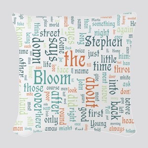 Ulysses Word Cloud Woven Throw Pillow