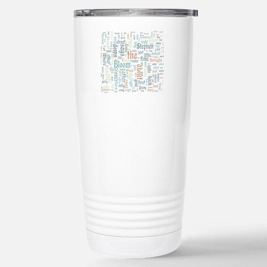 Ulysses Word Cloud Travel Mug