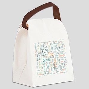 Ulysses Word Cloud Canvas Lunch Bag