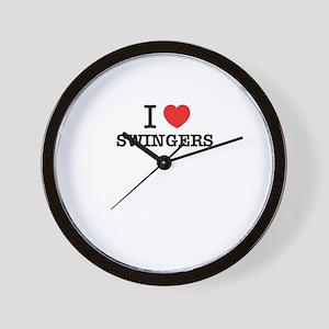 I Love SWINGERS Wall Clock