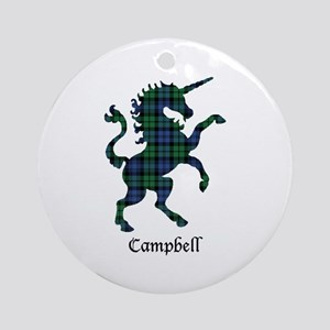 Unicorn - Campbell Round Ornament