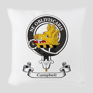 Badge - Campbell Woven Throw Pillow