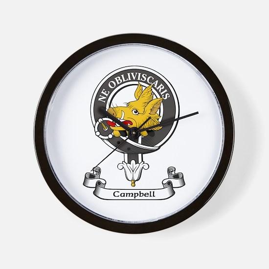 Badge - Campbell Wall Clock