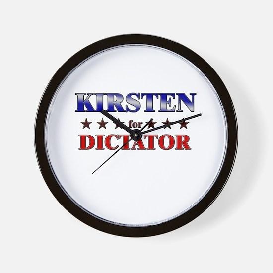 KIRSTEN for dictator Wall Clock